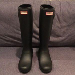 Hunter Original Tour Tall Boots Matte Black Sz8